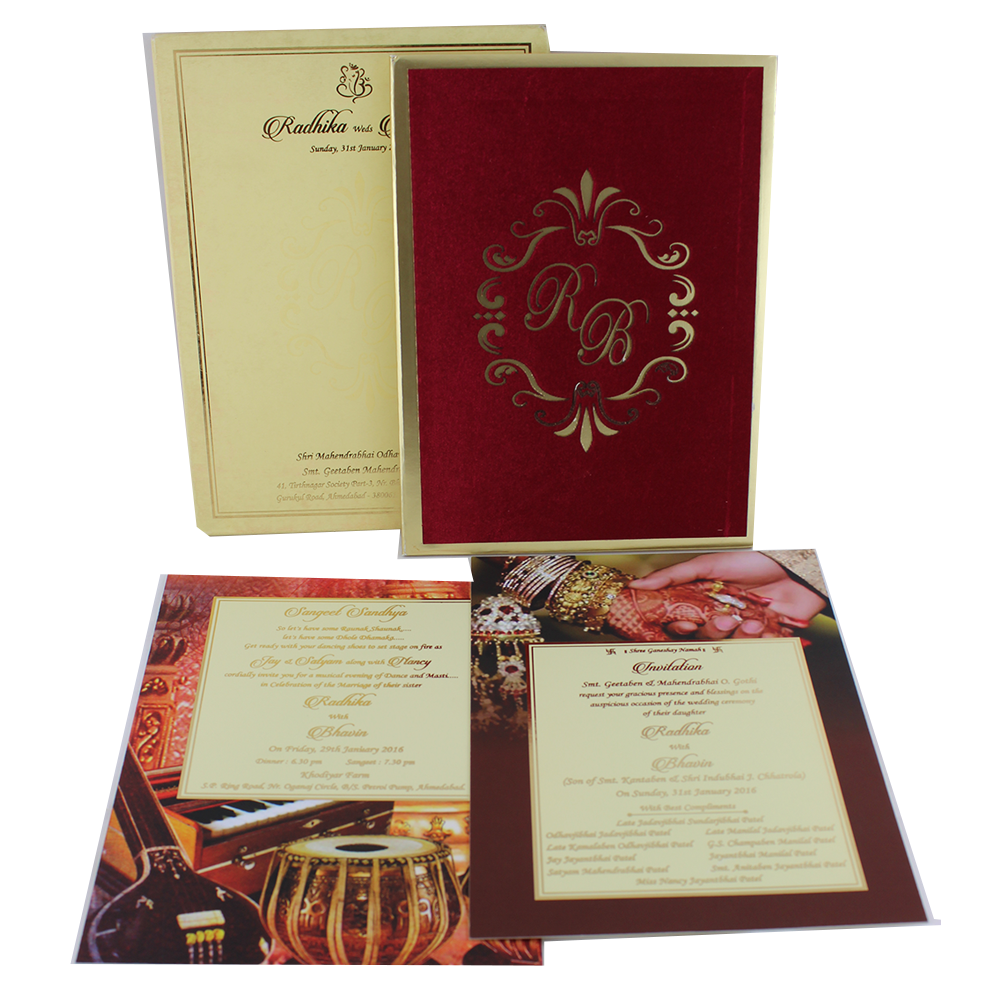VC-189 – Wedding Invitation Cards | Buy Online Wedding Cards In ...