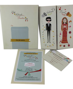 Wedding Invitation Cards | Buy Online Wedding Cards In Ahmedabad | Best Wedding Cards 28-247x300 VC-28