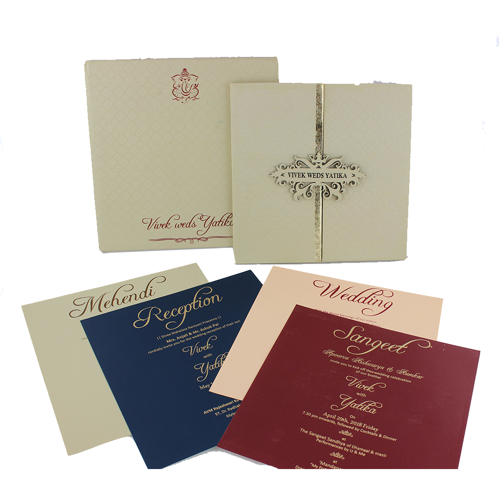 VC-63 – Wedding Invitation Cards | Buy Online Wedding Cards In ...