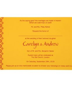 Wedding Invitation Cards | Indian Wedding Cards | Best Wedding Cards yellow-paisley-themed-screen-printed-wedding-invitations-cin-801a_4-247x300 VC-517