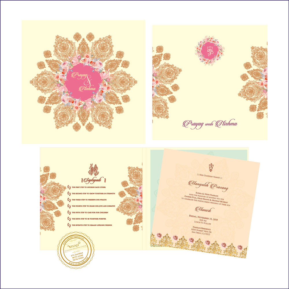 Wedding Card 11 Fully Customized Indian Wedding Card Top
